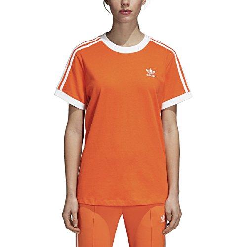 adidas Originals Women's 3 Stripes T-Shirt, Orange, XS