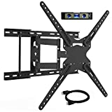 TV Wall Mount Full Motion TV Mount Bracket for Most 28-70 Inch Flat Curved TV Wall Mount TV with Articulating Arms Max VESA 600X400mm - Weight Capacity Up to 110Lbs