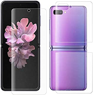 Al-HuTrusHi Compatible with Samsung Galaxy Z Flip 5G Screen Protector with Back, Full Cover Clear HD Bubble-Free Screen Pr...