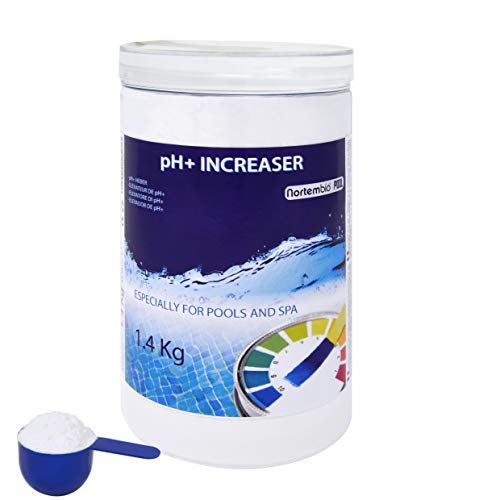NortemBio Pool pH+ Plus 1,4 kg, Elevador Natural pH+ para Piscina y SPA. Mejora la Calidad del Agua, Regulador pH, Beneficioso para la Salud. Producto CE.