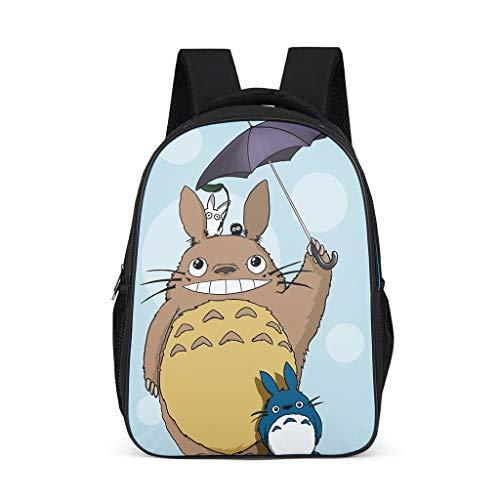 Mode Grafik Rucksack Anime Japanisch Totoro Regenschirm Ko Totoro Chuu Totoro Susuwatari Kunstwerk Druck Beiläufig Schultertasche Büchertasche Schultasche Tagesrucksack OneSize