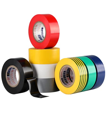 Ebrima 8 Rolls Insulation Tapes, Multi-Colored Electrical Tape, 0.7 Inch x 60 ft, Voltage Level 600V Dustproof, Adhesive for General Power Circuit Wiring