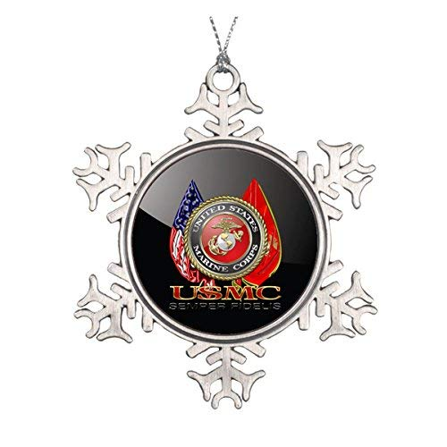 Christmas Tree Ornaments, Usmc Semper Fi [Special Edition] [] Metal Round Ornament Hanging Ornaments Traditional Xmas Tree Ornament for Fsetival New Year