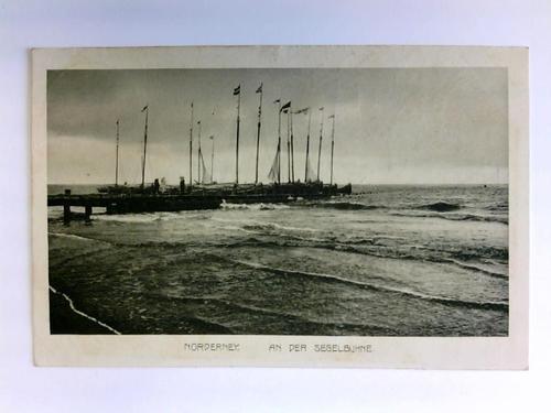 Postkarte: Norderney - An der Segelbuhne