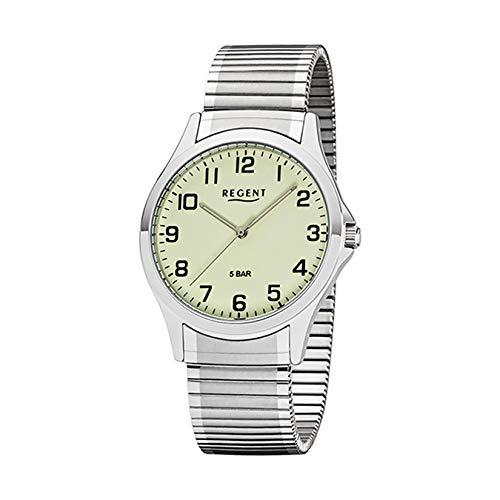 REGENT Herren-Armbanduhr analog Quarz Edelstahlzugband W-0008