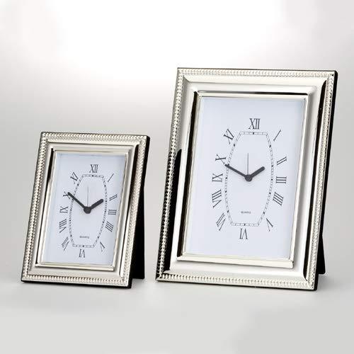 Dekolust Uhr Silber 24 cm Versilbert Tischuhr Standuhr Reiseuhr
