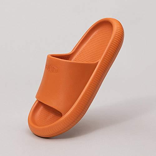 Coral Vaughan Sandalias y zapatillas infantiles para baño de verano antideslizante para el hogar, niños y niñas, bebé padre-hijo, zapatillas de bebé de 16,5 a 17,5 cm, color caramelo 1
