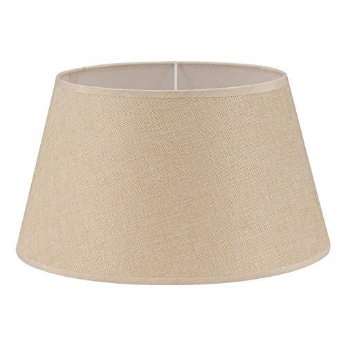 EGLO 1+1 Vintage Universal-Lampenschirm, Leinen, farbtöne, Universal, Innen, Creme, Stoff, Leinen, 190 mm, 427 G
