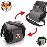 Boostersitz von Zwinkerfuchs® - Sitzerhöhung und Tasche vereint - Verwandeln Sie die Wickeltasche in einen Baby Reisesitz für unterwegs - Der ideale Begleiter wenn kein Hochstuhl zu finden ist