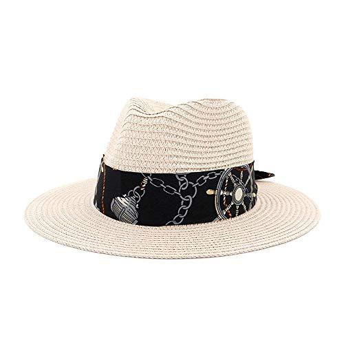 XYAL-Hats Xingyue vleugelhoed en cowboy hoed strohoed voor dames, breed strand, boord, hoed, panama, zon, fedora, hoed, hol, slang