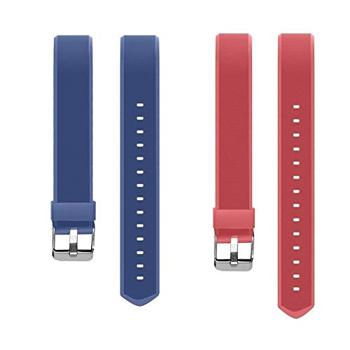 YiYunTE ID115Plus HR - Correa de repuesto ajustable de TPU para pulsera inteligente 115 Plus Hr, Blue+Red