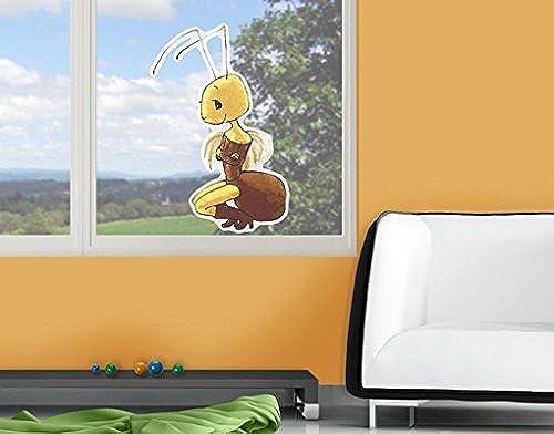 Sticker de fenêtre Ant Annabelle, Film de fenêtre, Autocollant de fenêtre, Tatouage de fenêtre, Sticker vitres, Image de fenêtre, déco de fenêtre, décoration de fenêtre, DiPour des hommesion  123cm x 80cm