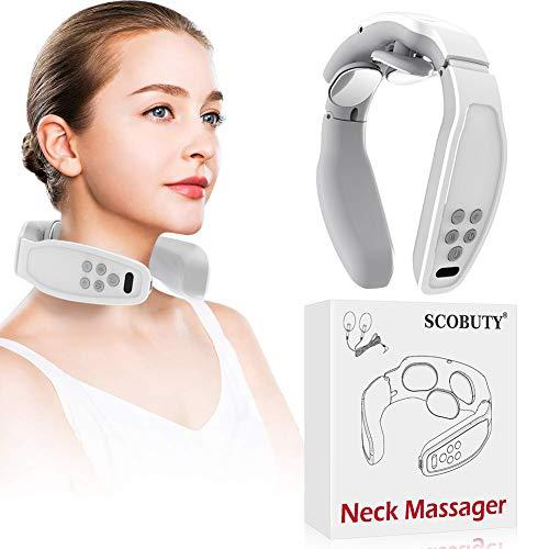 Shiatsu Masajeador Cervical, Masajeador de Cuello Multifunción,Masajeador de cuello 3D inalámbrico inalámbrico inteligente,Aliviar Rápidamente el Dolor Cervical