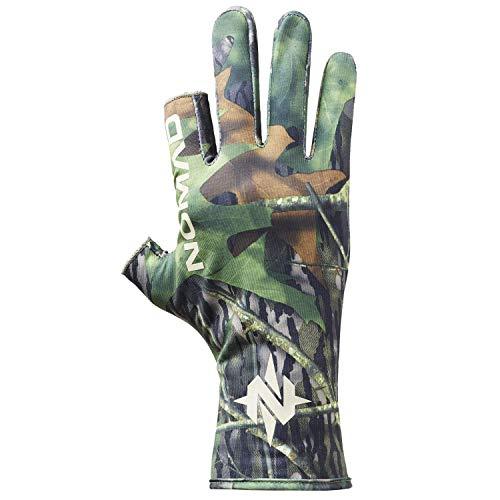 Nomad Mens Fingerless Turkey Glove | Camo Fingerless Hunting Glove, Mossy Oak Shadowleaf, Medium/Large