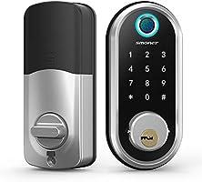 Smart Deadbolt, SMONET Fingerprint Electronic Deadbolt Door Lock with Keypad-Bluetooth Keyless Entry Keypad Smart...
