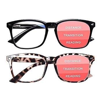 SIGVAN Progressive Multifocal Computer Glasses Women Men Blue Light Blocking Reading Glasses Spring Hinge Readers  2 Mix 1.5