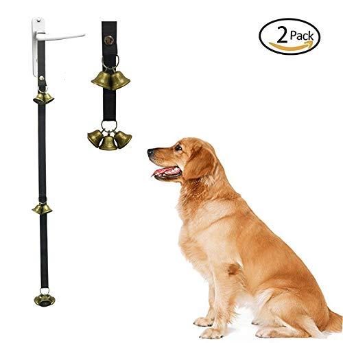 GDDYQ Timbre para Perro, Colgante de Entrenamiento Longitud del Timbre Ajustable Cuerda de Nylon Entrenamiento para el Inodoro Campana, Tono de Llamada para Mascotas, 2 Piezas