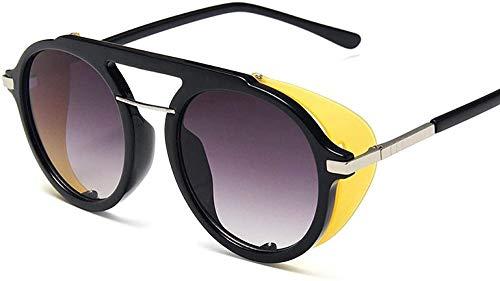 HNsusa Gafas de sol con montura de metal punk Gafas de sol para mujer Gafas redondas de diseñador de lujo Gafas de sol de moda para hombre Gafas de sol vintage 5