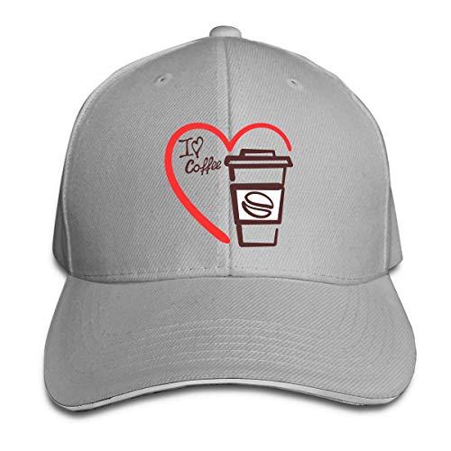 XCNGG I Heart Coffee Gorra Sándwich Unisex Gorra Curvada