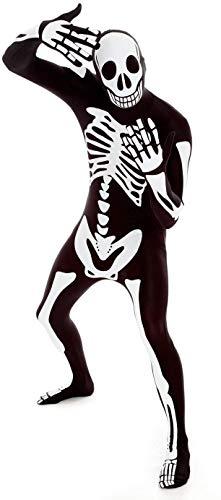 Morphsuits mens Glow Skeleton Morphsuit Fancy Dress adult sized costumes, Glow Skeleton, Medium US