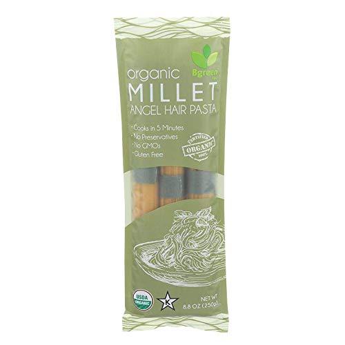 Big Green Organic Food- Organic Millet Angel Hair Pasta, 8.8oz, Gluten-Free, Non-GMO (1)