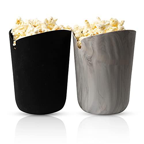 Silicone Microwave Popcorn Popper | Popcorn Buckets Reusable | Microwave Popcorn Maker | Popcorn Bowl Set | Popcorn Bowls for Family | Silicone Popcorn Popper | Healthy Popcorn | Movie Night Popcorn Containers