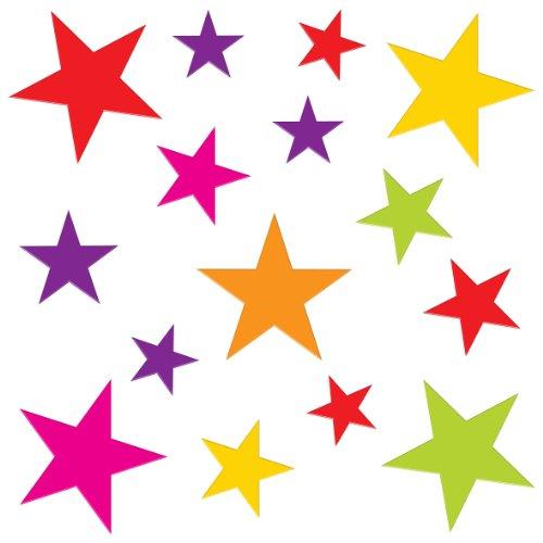 Indigo Worldwide Ltd Gel à Paillettes pour fenêtre Art Décorations étoiles-Medium-Lot de 3 Gels en adhérant aux Fenêtres & miroirs, etc.