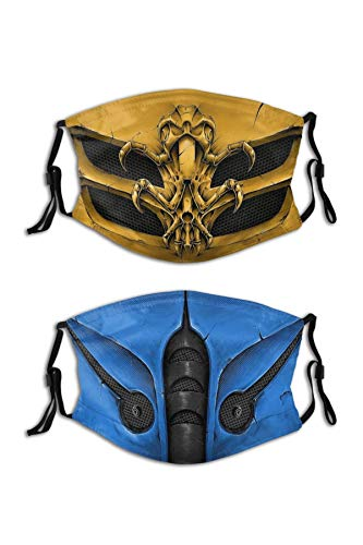2PCS Mortal Kombat Face Mask Cool M…