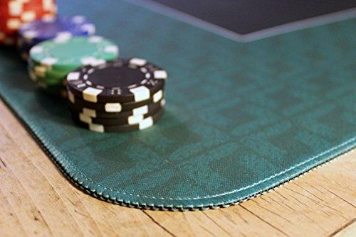 Profi Pokermatte grün in 100 x 60cm von Bullets Playing Cards für den eigenen Pokertisch – Deluxe Pokertuch – Pokerteppich – Pokertischauflage – ideal als Geschenk - 3