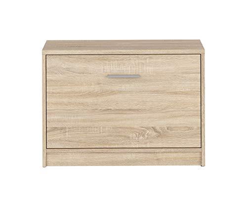 BOARDD - Zapatero para pasillo y zapatero con puerta abatible, 70 x 50,5 x 34 cm