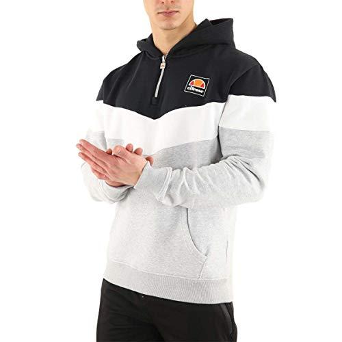 Ellesse Men's Hoodie Zip Tricolore, Sweatshirt - S