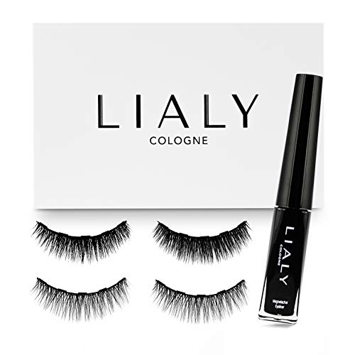 LIALY® - Magnetische Wimpern Natürlich (2 Paar) - Premium Qualität - Magnetischer Eyeliner (3ml)...