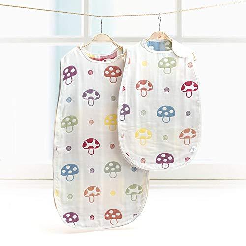 HAIHF Saco de Dormir para Bebé, 2 Unidades de Manta Portátil, Ideal para Verano, Saco de Dormir de 100% al Algodón Orgánico Unisex para Bebés