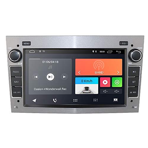 hizpo Android 10 Autoradio mit Bluetooth GPS Navigation 7 Zoll Touchscreen für Opel Antara Vectra Crosa Vivaro Zafira Meriva Unterstützung Lenkradsteuerung WiFi 4G USB SD CAM-In DAB +(Grau)