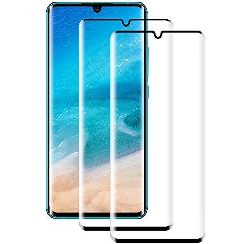 PUUDUU Vetro Temperato per Xiaomi Mi Note 10/Note 10 PRO/Note 10 Lite, [2 Pezzi] AntiGraffio, Senza Bolle, Pellicola Protettiva per Mi Note 10/Note 10 PRO/Note 10 Lite