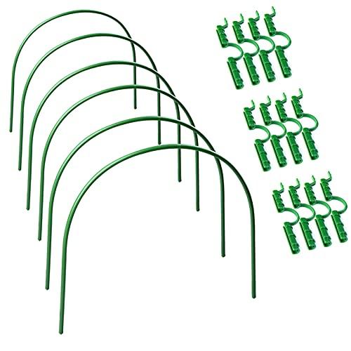 SUFUBAI 6 aros de soporte de jardín, aros de túnel de cultivo...