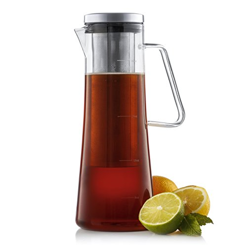 JoyJolt Fresco Cold Brew Iced Coffee Maker, Glass Tea Maker 1 Liter-32 oz