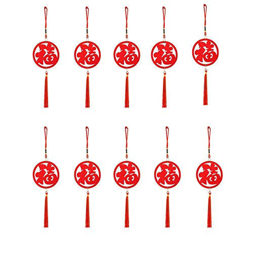 ZHANGJINYISHOP2016 Tassels for Crafts Festival Wooden Blessing Small Pendant Indoor And Outdoor Scene Decoration Decoration Pendant Tree Ornaments Car Pendant for Luck Wealth Health to Friends Family