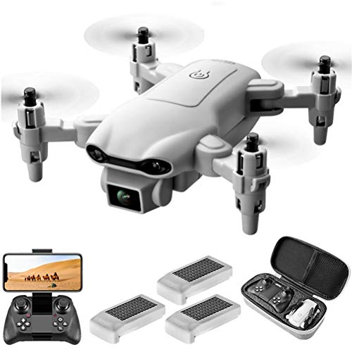 WXFXBKJ New HD Drones,V9 Mini Drone 4k Profession HD Wide Angle Camera 1080P WiFi FPV Drone Dual Camera Height Keep Drones Camera Helicopter Toys (Color : V9 4K 3Battery)