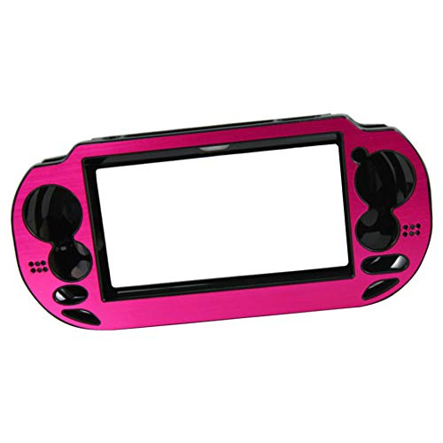 uirend Aluminum Metal Protective - Hard Case Cover for Playstation PS Vita 1000 PSV Console Color Rose red
