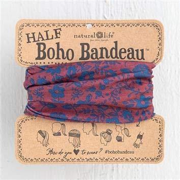 Natural Life Red Indigo Folk Half Boho Bandeau