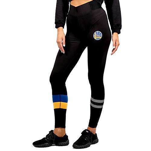 Ultra Game NBA Golden State Warriors Womens Leggings Perimeter Fitness Sport Yoga Pants, Black, Medium