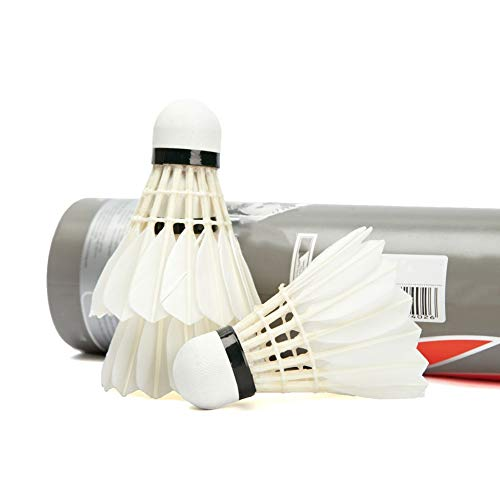 OULATUWB 12 Pcs High Speed Badminton, Goose Feather Shuttlecocks Stable Durable Sports Training Badminton Balls