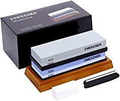 zhenzhen Knife sharpening stone, 400 / 1000.2000 / 5000 Double Side Grit Waterstone, Best whetstone Sharpener,...