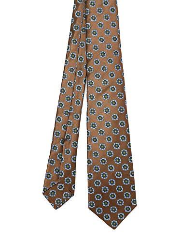 Kiton Luxury Fashion Herren 7E1308000 Braun Seide Krawatte | Frühling Sommer 20