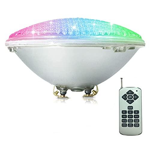 AMDHZ RGBW PAR56 Poolbirnen, LED Schwimmbad Unterwasserlicht 12V Wasserdicht IP68 mit Fernbedienung für Inground Pool Zertifikat CE ROHS FCC (Color : RGBW+Remote Control, Size : 45W)
