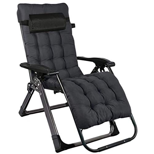Heavy Duty Zero Gravity Chairs, Folding Outdoor Reclining Sun Lounger Chair with Headrest and Thick Cotton Pad, Bold 40mm Square Tube Support 440lbs