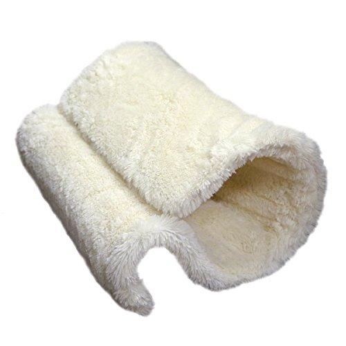 Rozenhout Luxe Kwaliteit Kat Tunnel En Bed, Radiator Of Vloer Staand, Warm, Comfy En Veilig Plaats Voor Katten H40 X D31 X W31Cm, Crème