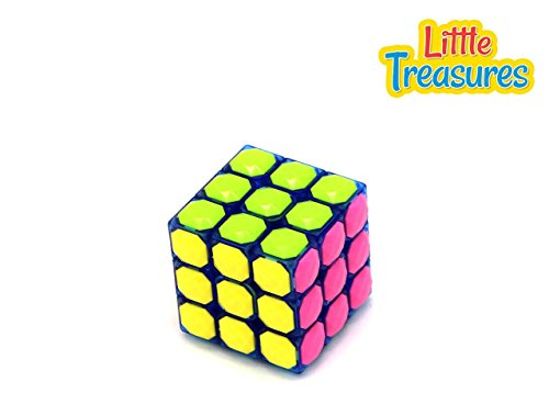 Little Treasures Blue Cube Colored Stickerless Adjustable Tension 3X3 Cube