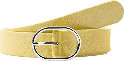BRAX Damen Style Veloursledergürtel Mit Schimmer Gürtel, Gelb ( YELLOW ) , 105